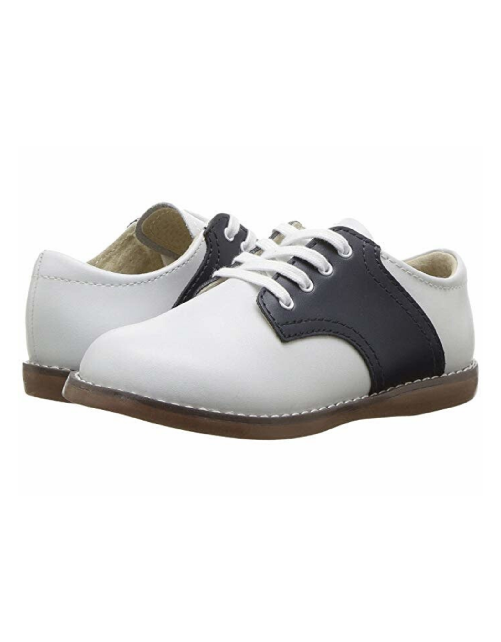 Footmates Cheer White And Navy Saddle Oxford