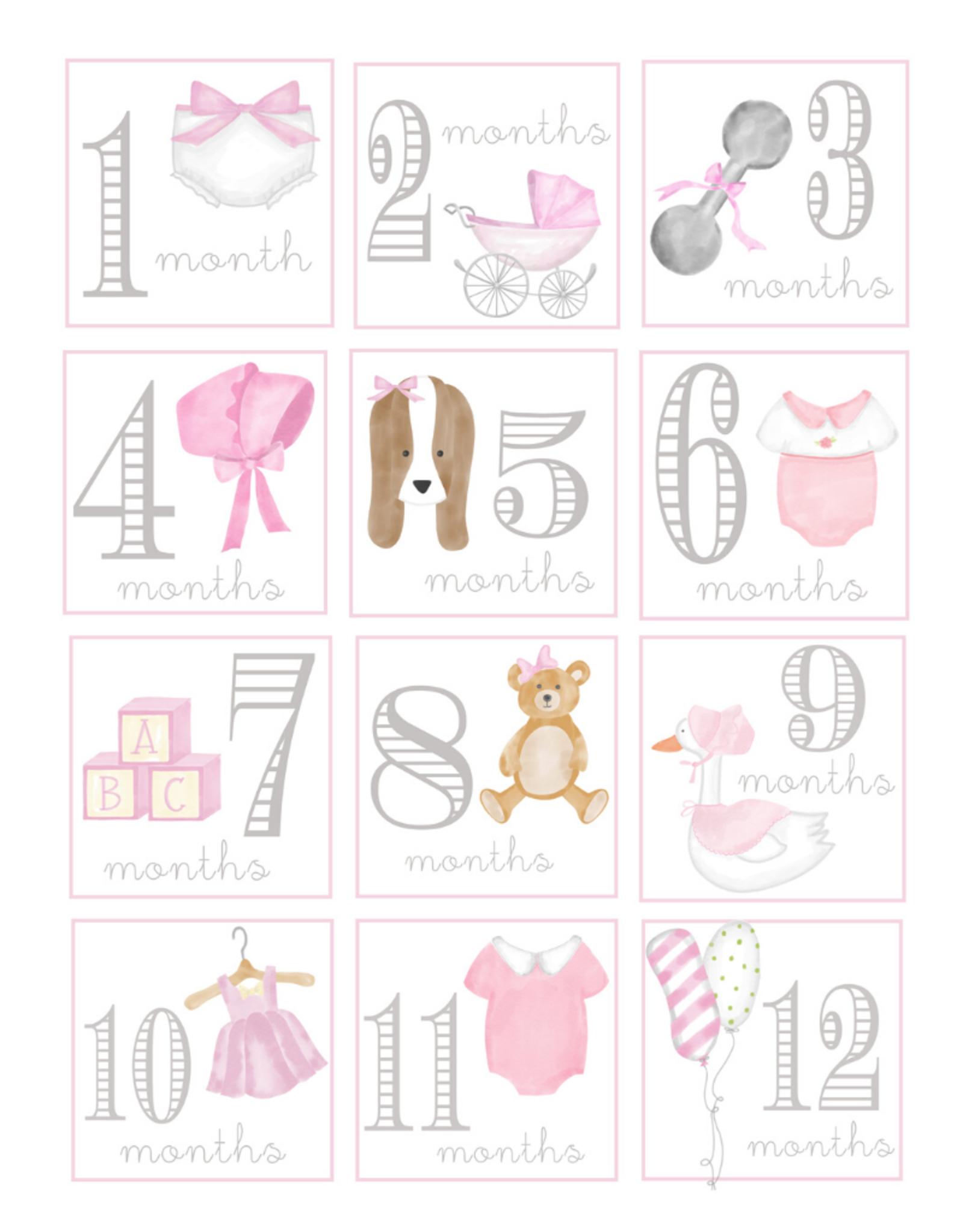 Lauren Ashley Designs Baby Girl Milestone Cards