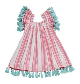 Mer St. Barth Pink Stripe Serena Dress