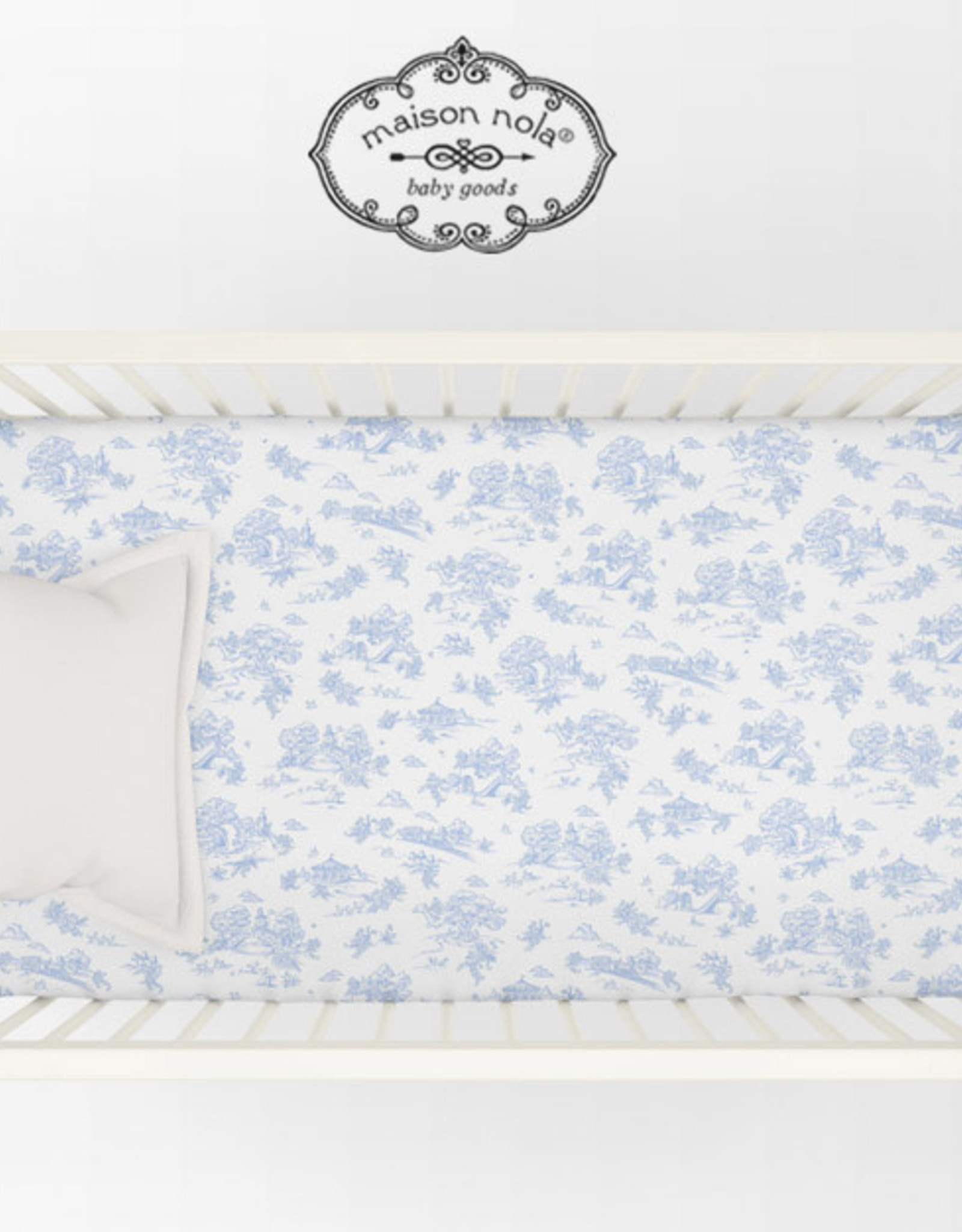 Maison Nola Toile Crib Sheet