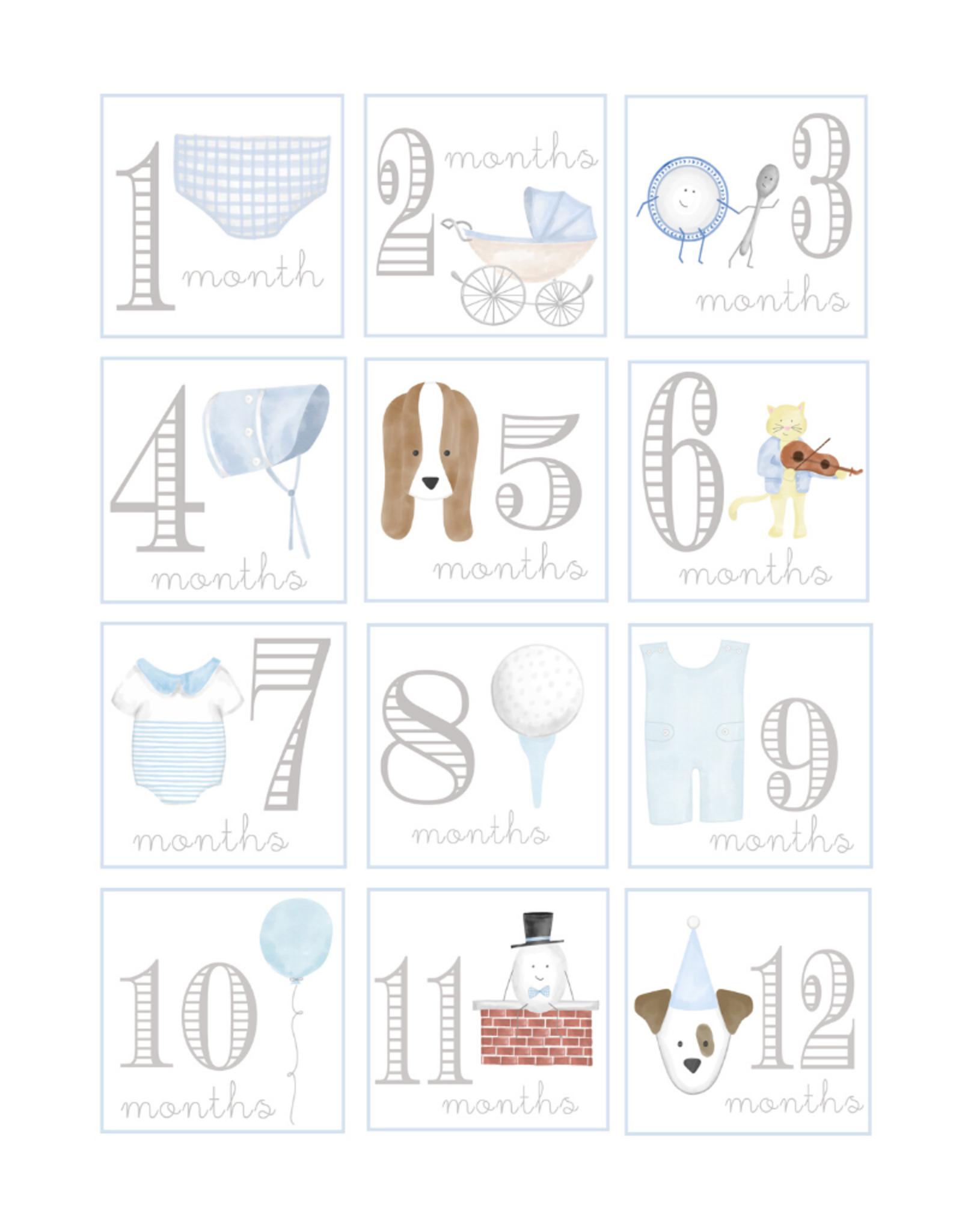 Lauren Ashley Designs Baby Boy Milestone Cards