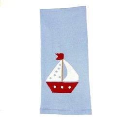 Little English Sailboat Intarsia Blanket