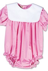Rosalina Pink Gingham Girls Bubble With White Collar