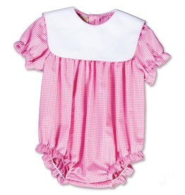 Rosalina Pink Gingham Bubble With White Collar