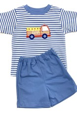Claire and Charlie Car Striped Shorts Set