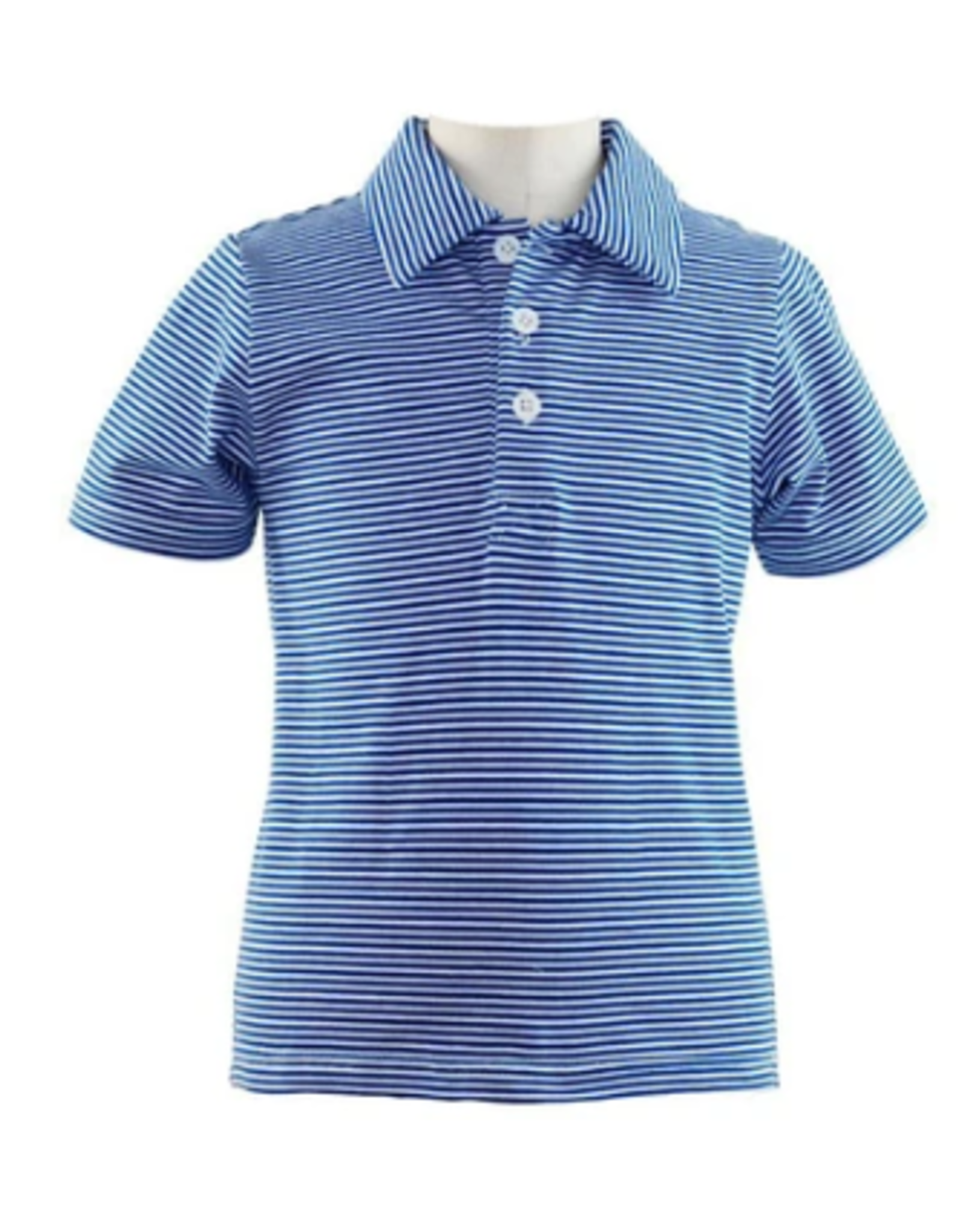 Rachel Riley French Blue Striped Jersey Polo