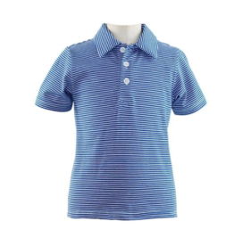 Rachel Riley French Blue Striped Jersey Polo
