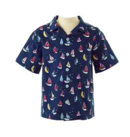 Rachel Riley Navy Sailboat Shirt