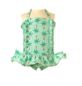 Rachel Riley Palm Tree Ruched Swimsuit