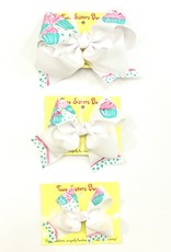 James and Lottie Hand Painted Cupcake Bow