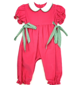 Funtasia Too Hot Pink Romper Green Check Ties