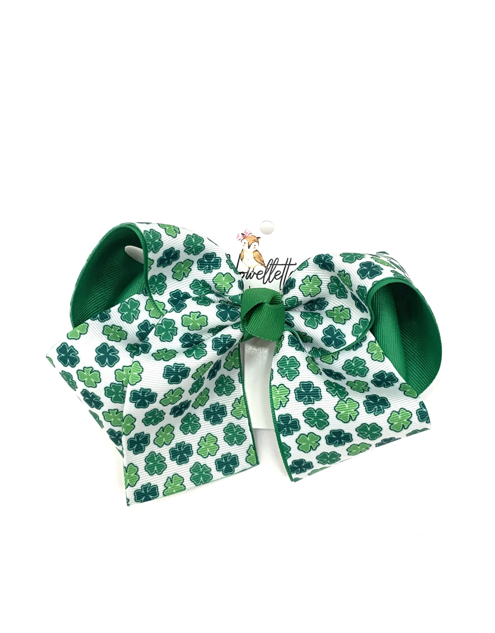 Howelette Hairbows Green Shamrocks Bow