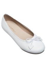 Elephantito White Scalloped Ballerina Shoe
