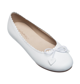 Elephantito White Scalloped Ballerina Shoe