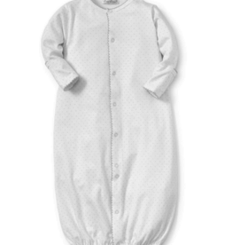 Kissy Kissy White Converter Gown With Silver Dots