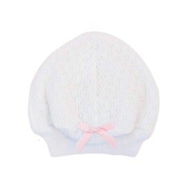 Paty Paty White Cap With Pink Essential