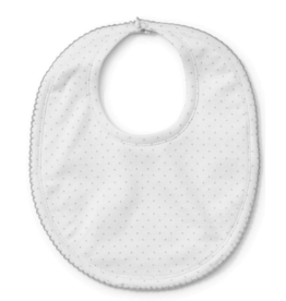 Kissy Kissy White Bib With Silver Dots