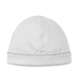 Kissy Kissy White Hat With Silver Dots