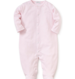 Kissy Kissy Pink Footie With White Dots