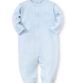 Kissy Kissy Blue Footie With White Dots