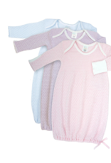 Paty Lap Shoulder Gown Solid Blue