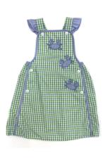 Petit Ami Green And Blue Crab Check Dress