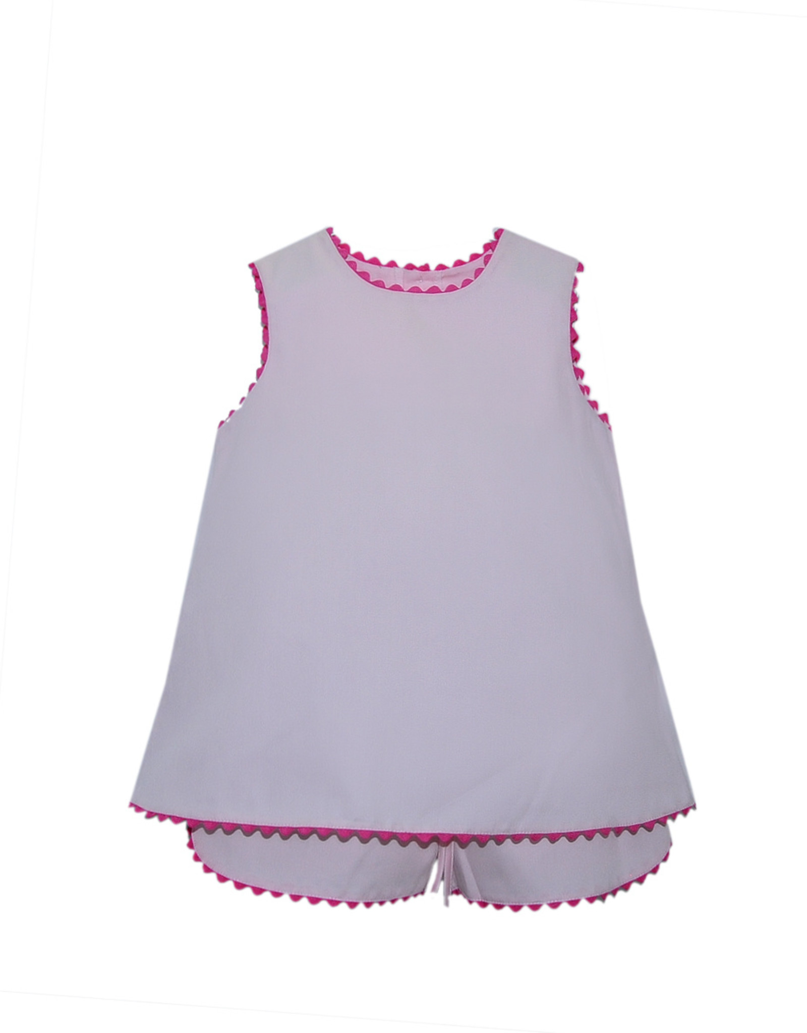 LullabySet Lucy Pink Top With Ric Rac Short Set