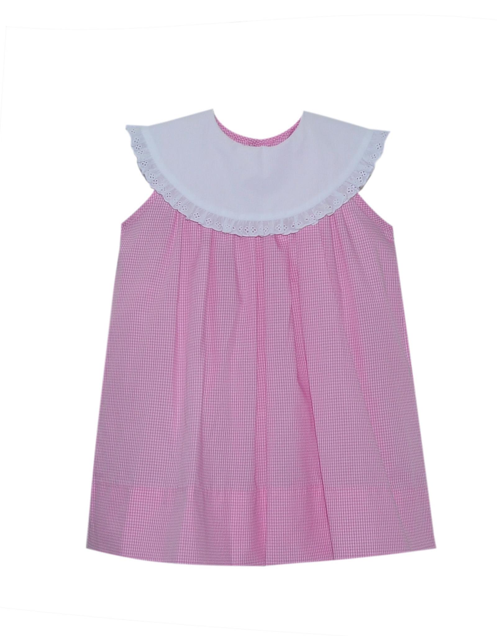 LullabySet Olivia Pink Dress With White Collar