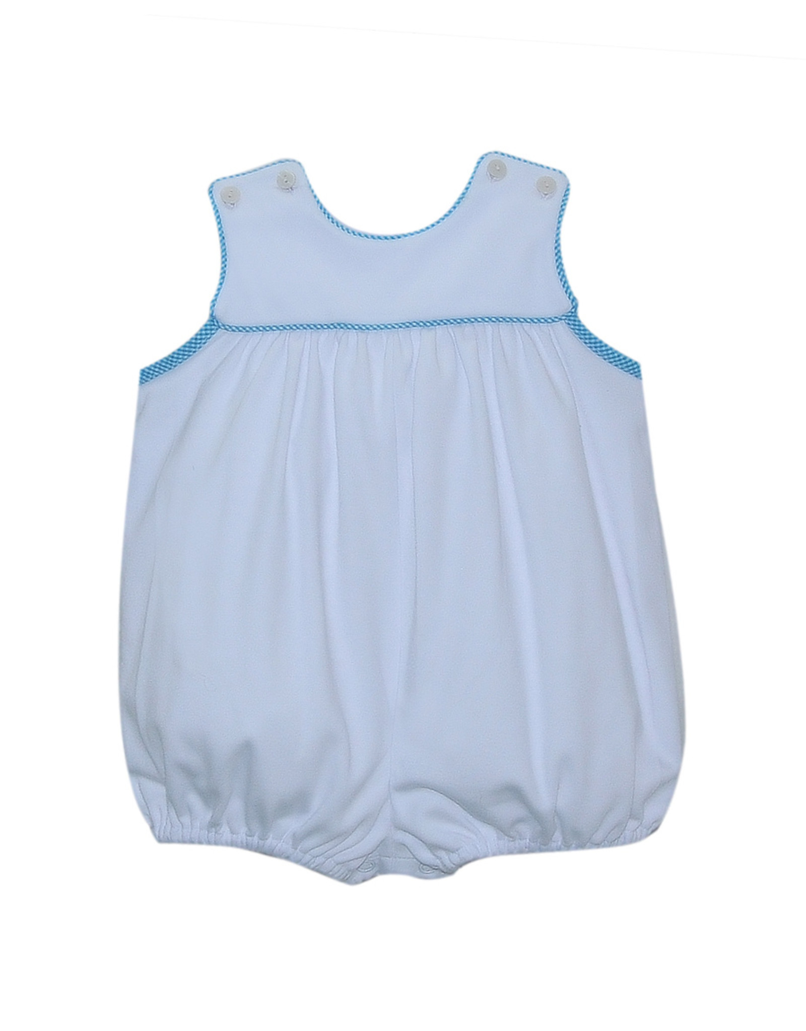 LullabySet Taylor White Bubble With Teal Trim