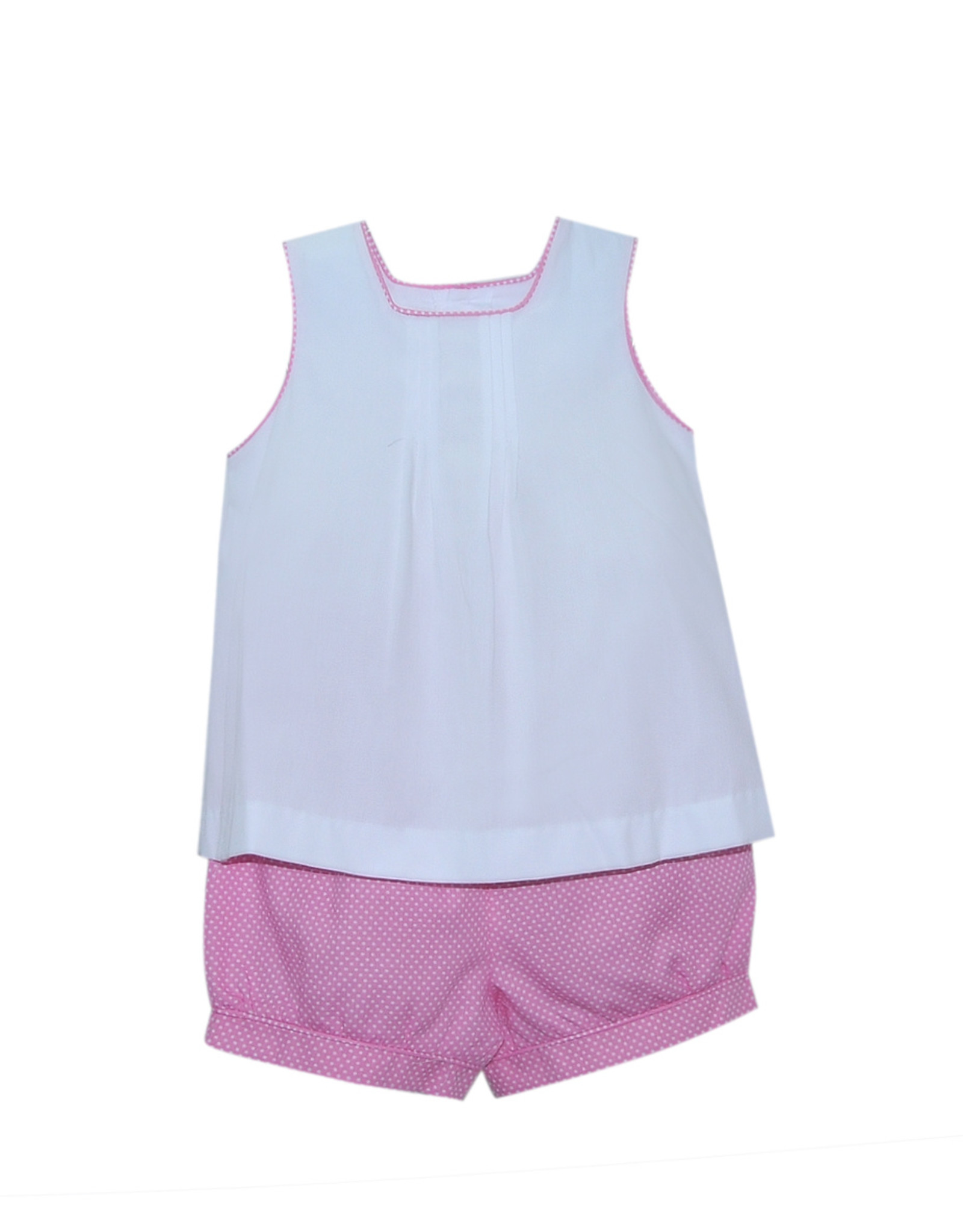 LullabySet Ellery White Top With Pink Shorts