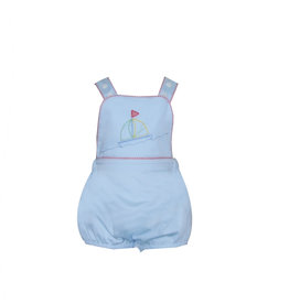 LullabySet Sammy Blue Bubble With Sailboat And Red Trim