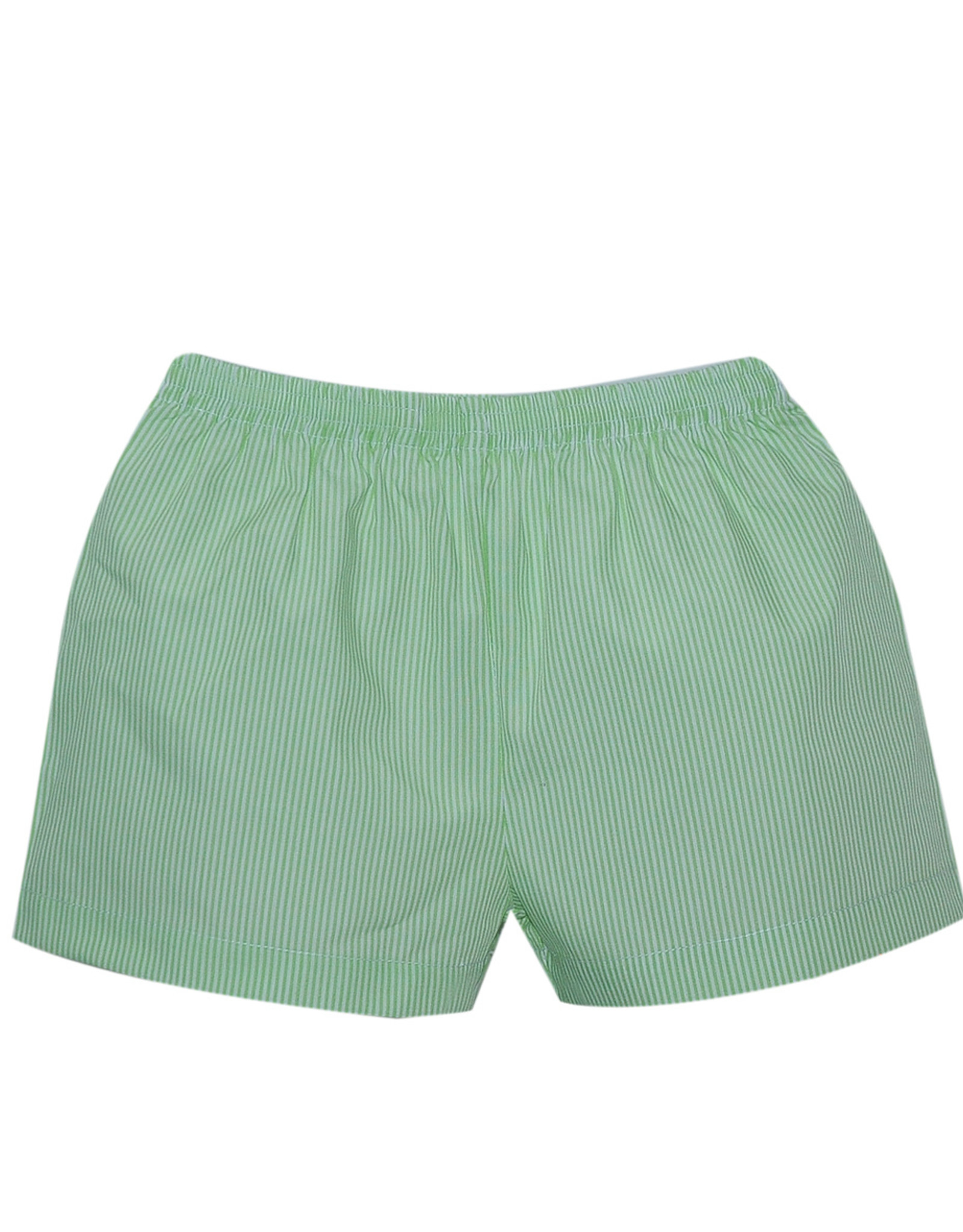 LullabySet Stewart Green Striped Shorts