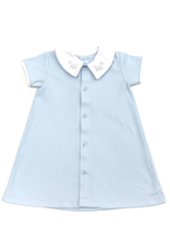 Auraluz Blue Daygown With Airplanes On Collar