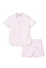 Petite Plume Women's Light Pink Gingham Pajama Short Set