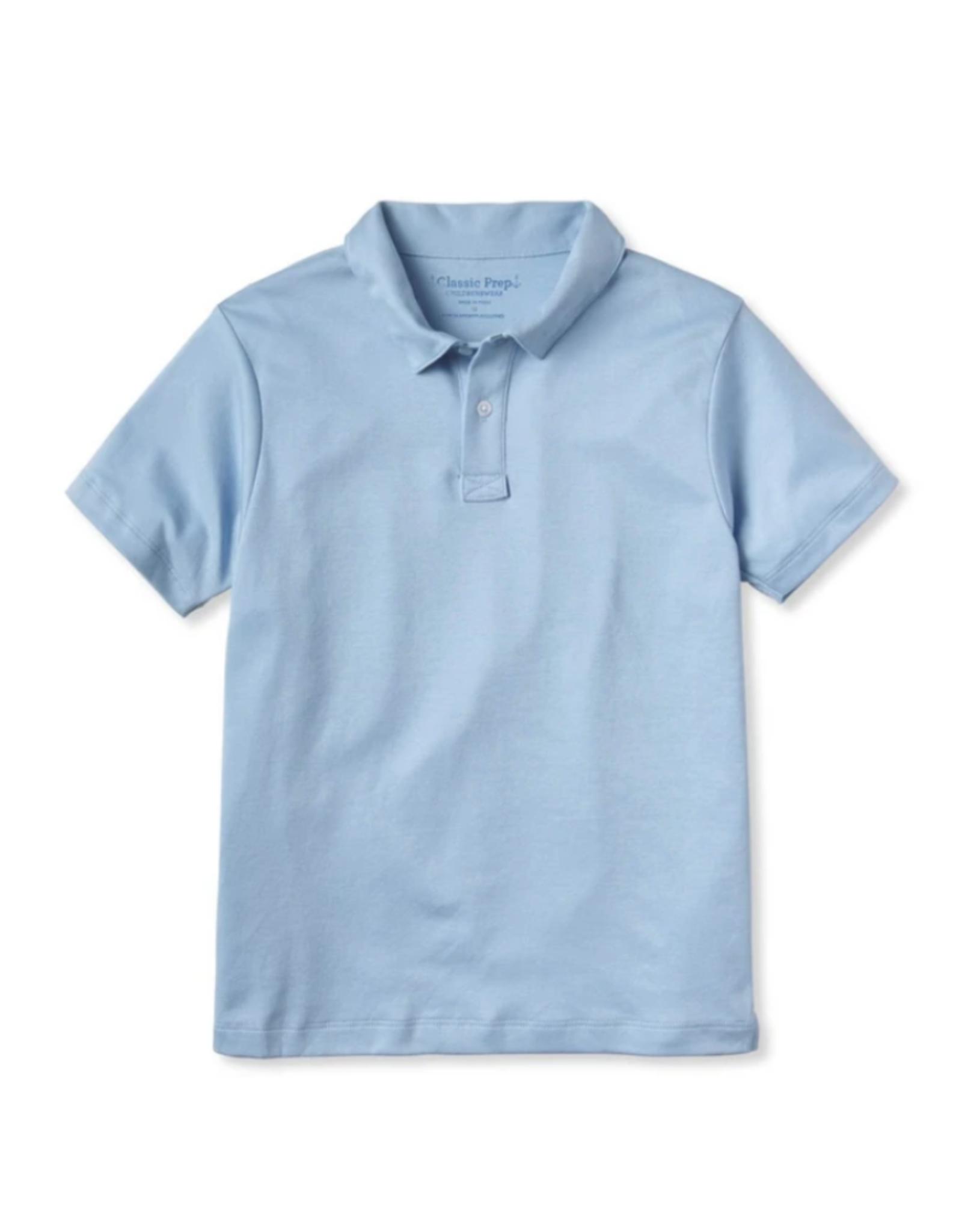 Classic prep Henry Blue Short Sleeve Polo