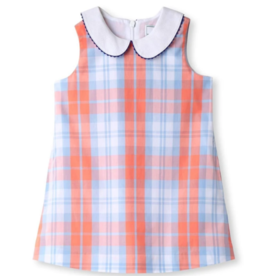 Classic prep Maddie Coral And Blue Dress