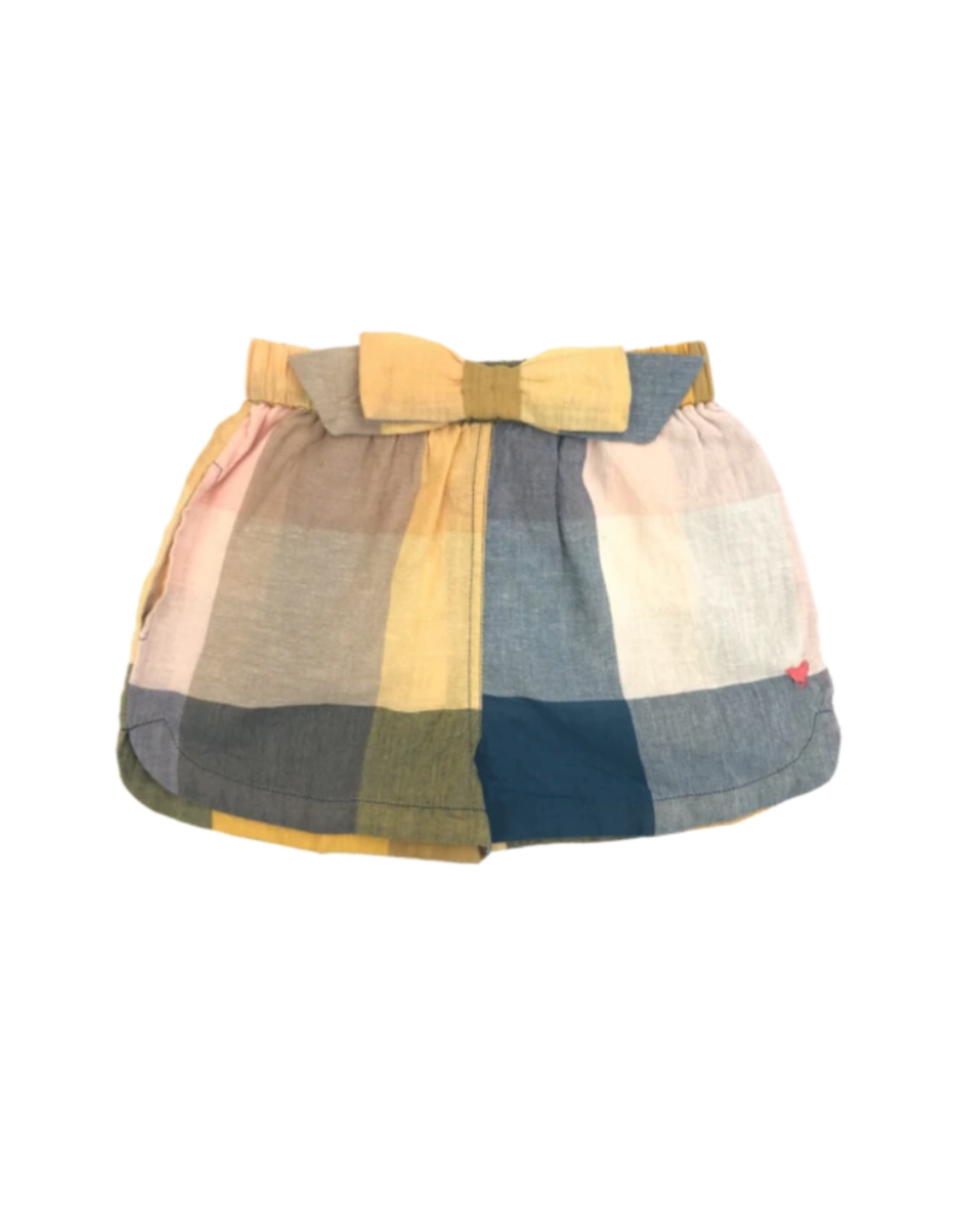 Pink Chicken Camp Multi Colored Buffalo Check Bow Shorts