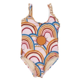 Pink Chicken Pink Claire Swimsuit With Rainbows