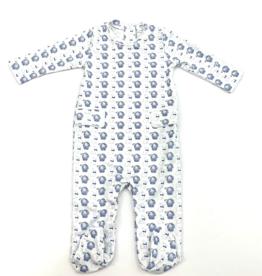 Lila and Hayes Preston Blue Bunny Footie Pajama