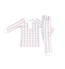 Lila and Hayes Alden Pink Bunny Two Piece Pajama Set