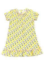 Lila and Hayes Camden Pink Lemonade Dress With Pom Poms
