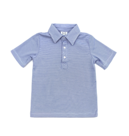 Lila and Hayes Griffin Blue And White Striped Polo