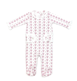 Lila and Hayes Lucy Pink Bunny Pajama Footie