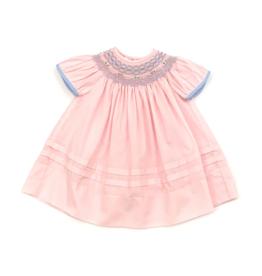 Rosalina Pink Smocked Bishop Dress