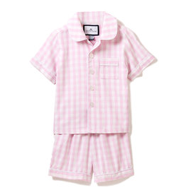 Petite Plume Pink Gingham Pajama Short Set