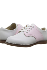 Footmates Cheer White And Rose Saddle Oxford