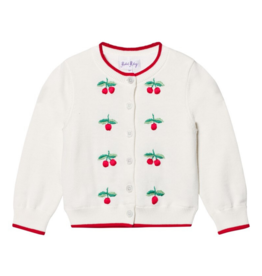 Rachel Riley Cherry Embroidered Cardigan