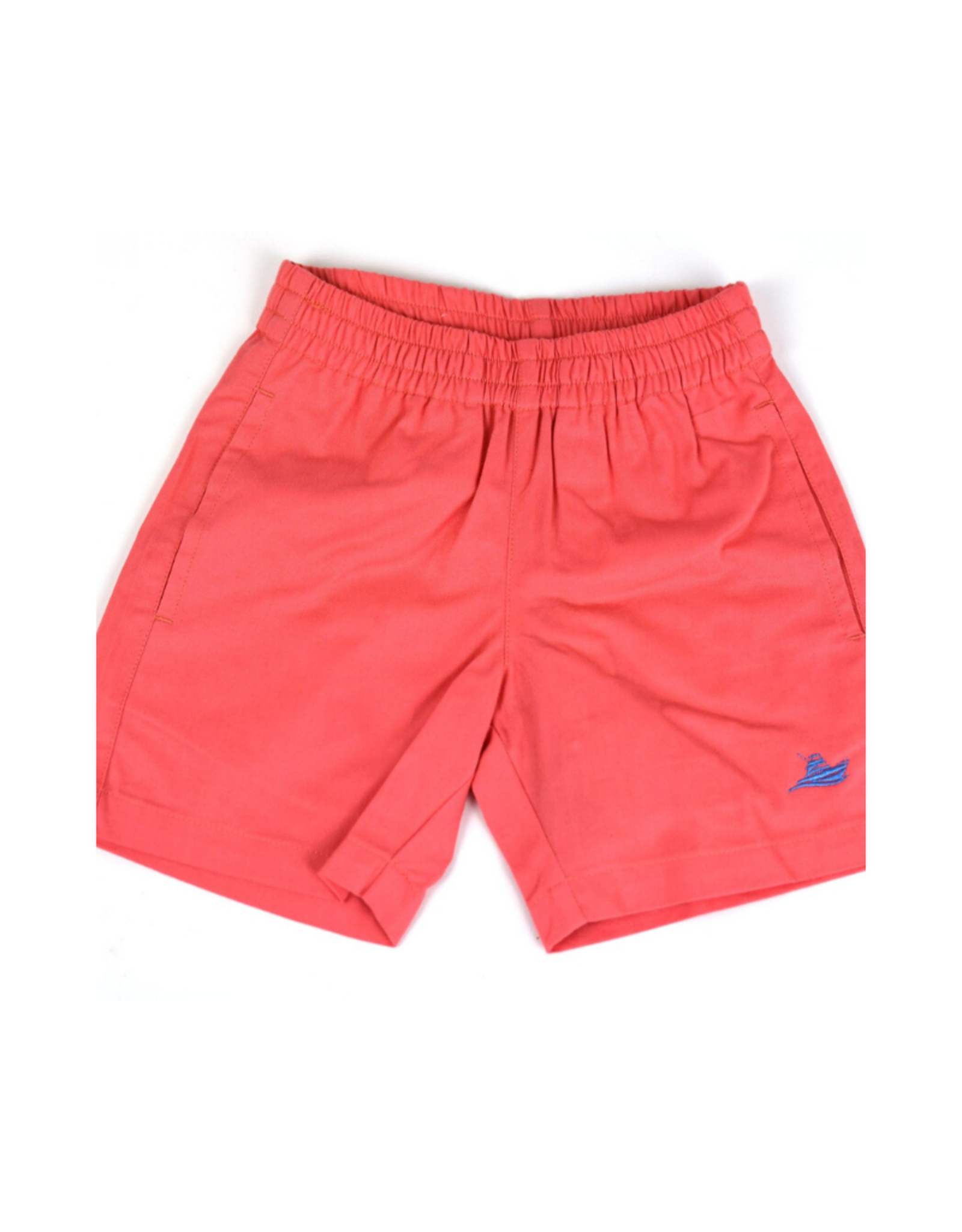 SouthBound Red Elastic Waistband Shorts