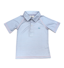 SouthBound Blue And Pink Striped Polo