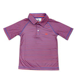 SouthBound Red And Regatta Striped Polo